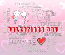 Valentines Day Means Romance Love And Affection Stock Illustration