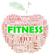 Fitness Apple Means Physical Activity And Exercising Stock Illustration