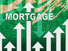 Mortgage Graph Shows Real Estate Home Loan Piirros