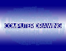 Computer Drawing Indicates Creative Design And Drafting Stock Illustration