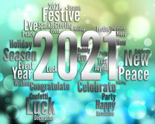 Two Thousand Twenty One Or 2021 New Year Party Stock Illustration