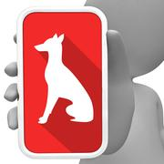Dogs Online Means Canine Mobile Phone 3d Rendering Stock Illustration