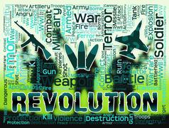 Revolution Words Means Regime Change Or Coup Stock Illustration