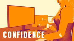 Confidence Concept Course Stock Illustration