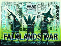 Falklands War Shows Malvinas Hostilities And Fighting Piirros