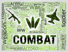 Combat Words Represents Battles Hostility And Conflicts Piirros