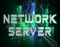 Network Server Means Global Communications And Connection Stock Illustration