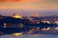Beautiful evening in Istanbul, Turkey Stock Photos