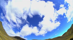 Fish Eye Photography of cloudscape over Southern Alps Mountain Range Canterbury Stock Footage