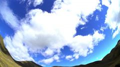 Summer cloudscape over Southern Alps open range South Island New Zealand with Stock Footage