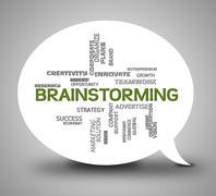 Brainstorming Bubble Indicates Plan Brainstorms 3d Illustration Stock Illustration