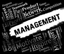 Management Words Represents Organization Directors And Administration Stock Illustration
