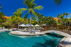 Nusa Dua resort in Bali Indonesia Stock Photos