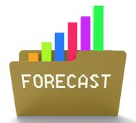 Forecast File Represents Prediction Graph 3d Rendering Stock Illustration