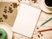 Coffee break with snack Stock Photos