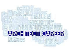 Architect Career Means Architecture Job Or Occupation Stock Illustration