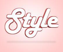 Style Word Indicates Beautiful Elegant And Glamorous Stock Illustration