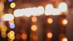 Festive atmosphere, beautiful LED illumination decorating building, New Year Stock Footage