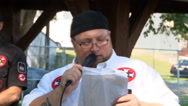 Ku Klux Klan preaches religion during pro-white race rally in Indiana   Stock Footage
