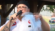 Ku Klux Klan promotes gun rights in Indiana   Stock Footage