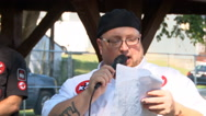 Ku Klux Klan encourages strong family structures during rally in Indiana   Stock Footage