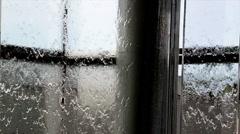 Rainy Window Pains Stock Footage