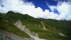 Extreme terrain of New Zealand mountain range in scenic holiday destination of Stock Footage