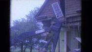 1965: construction area beside mud WAUPACA, WISCONSIN Stock Footage