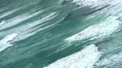 Seascape of waves on Tasman Sea on shoreline of Paparoa National Park South Stock Footage