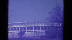 1965: the amazing shiny stadium WAUPACA, WISCONSIN Stock Footage