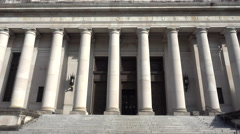 Washington State Temple of Justice Close Up Stock Footage