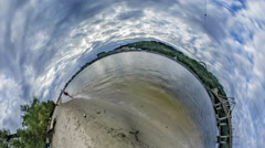 Little Tiny Planet 360 Degree Stock Footage