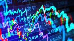 Abstract background stock indices and graphs Stock Footage