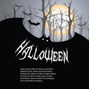 Halloween Backdrop Stock Illustration
