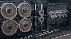 Engine machine wheel Stock Footage
