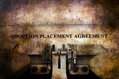 Adoption agreement grunge concept Stock Illustration