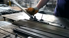 Metal Bending iron steel Stock Footage