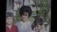 1967: grandmother mother and her son LINCOLN, NEBRASKA Stock Footage
