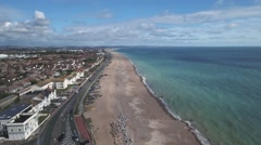 The beach in Worthing, South of England Stock Footage
