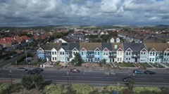 Victorian houses in Worthing, South of England Stock Footage