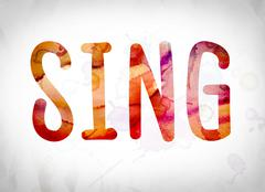Sing Concept Watercolor Word Art Stock Illustration