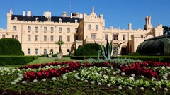 Castle Lednice, UNESCO world heritage at south Moravia, Czech republic Stock Footage