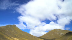 Shadows on Southern Alps Mountain Range and cloudscape in time lapse Canterbury Stock Footage