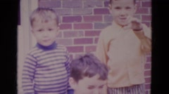 1967: little boys are waving hi LINCOLN, NEBRASKA Stock Footage