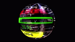 Apps download spinning globe Stock Footage