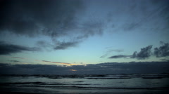 Time lapse of sunset over Tasman Sea on Westland Coastline Paparoa National Park Stock Footage