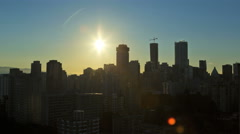 Time lapse sunrise Downtown Cityscape view of buildings and apartments city Stock Footage
