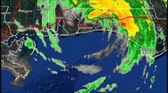 1995 Hurricane Opal Landfall Radar Time Lapse Stock Footage
