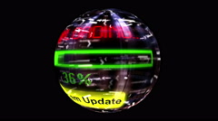 System update download globe Stock Footage