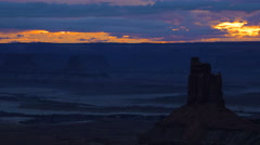 Time Lapse Canyonlands Moab Utah After Sunset Stock Footage